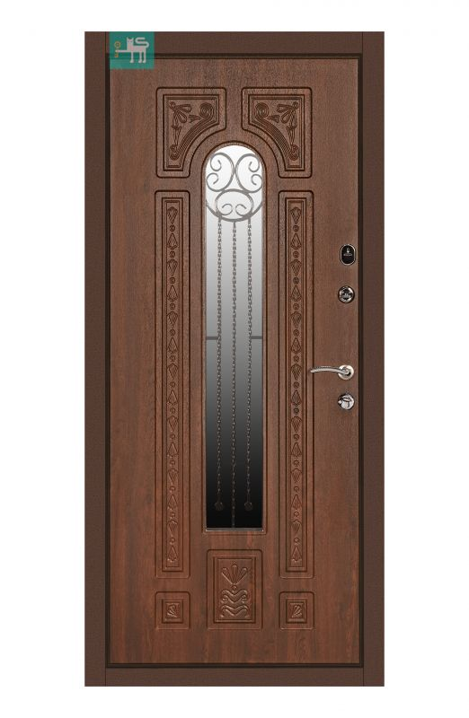 Двері вхідні  Міністерство дверей ПК-139+ V Дуб темний Vinorit