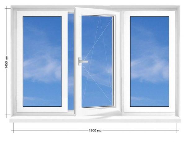 Вікно ПВХ Rehau Euro-60 1800х1450 мм
