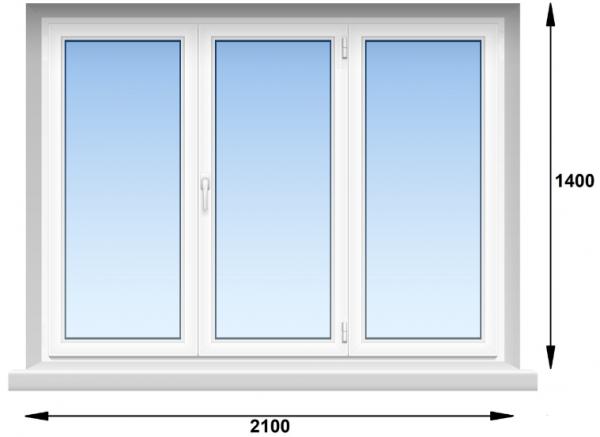 Вікно ПВХ Rehau EURO-DESIGN -70  2100х1400 мм