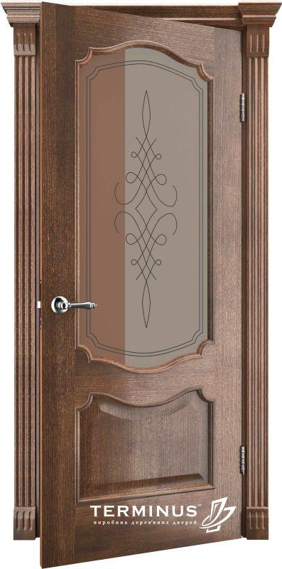 Двері міжкімнатні Terminus Caro 41 ПО дуб браун