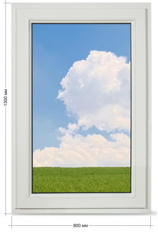 Вікно глухе Veka Softline 800*1300 мм.