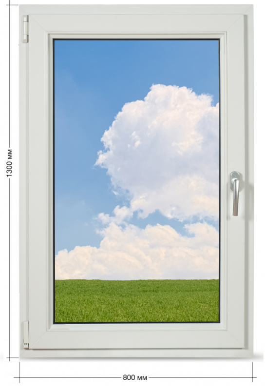 Вікно Veka Softline 800*1300 мм.