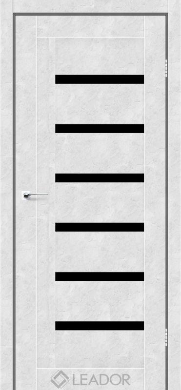 Amelia Sincrolam бетон білий чорне скло
