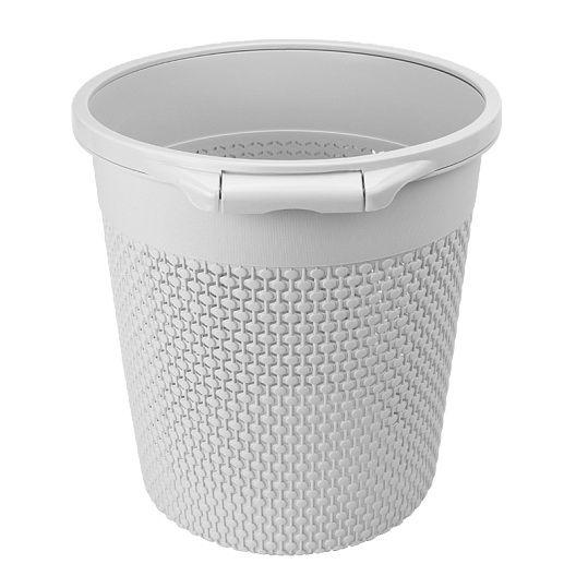 Відро для сміття вузьке без кришки BIN 09 9L сіре
