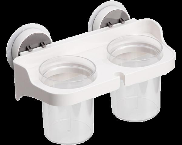 Полиця клейка BP-1 біла зі стаканами