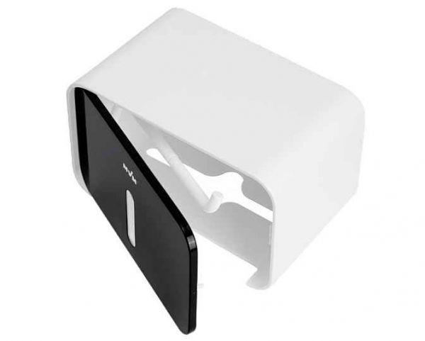 Тримач для туалетного паперу клейкий BP-15 білий/чорний