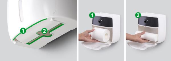 Тримач для туалетного паперу клейкий BP-16 білий/чорний