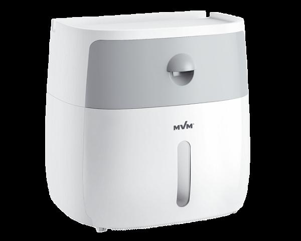 Тримач для туалетного паперу клейкий BP-16 білий/сірий