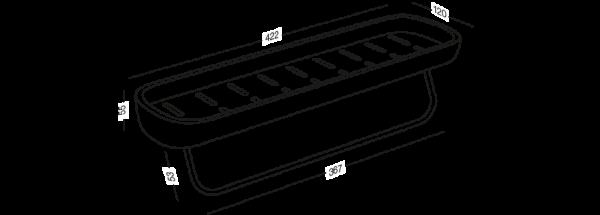 Полиця велика клейка BP-18 Білий/чорний