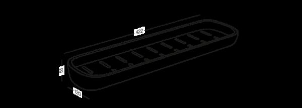 Полиця велика клейка BP-18 Білий/сірий