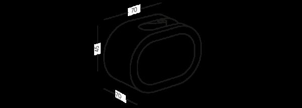 Тримач для швабри клейкий BP-19 білий/сірий