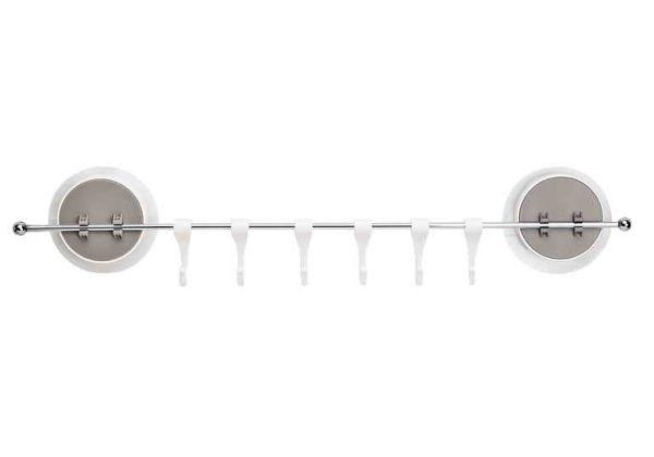 Тримач з гачками універсальний клейкий BP-8 білий