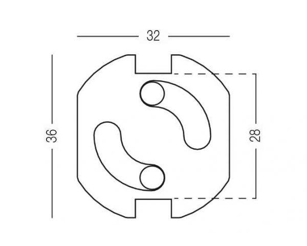Заглушки для розеток BS-13 білі  6 шт