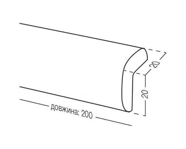 Стрічка захисна на кути BS-17 біла 2 м.п.