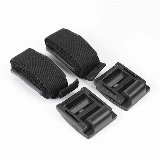 Ремінь для захисту від перекидання TV та меблів BS-20 чорний 2 шт