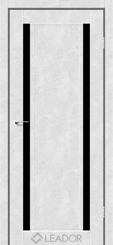 Catania Sincrolam бетон білий чорне скло