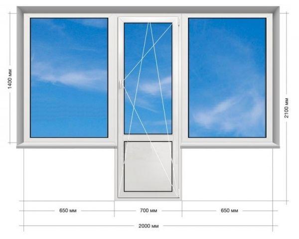 "Балконний блок ""Чебурашка"" Veka Proline 2000*2100 мм."