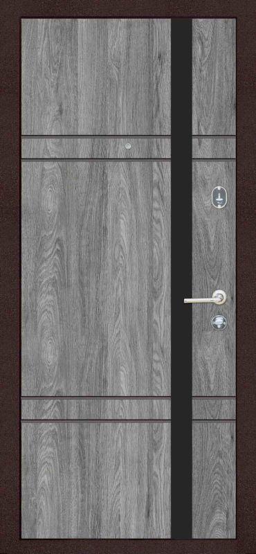 Двері вхідні Riccardi-Standart 5-C BG бетон темний/дуб юджин
