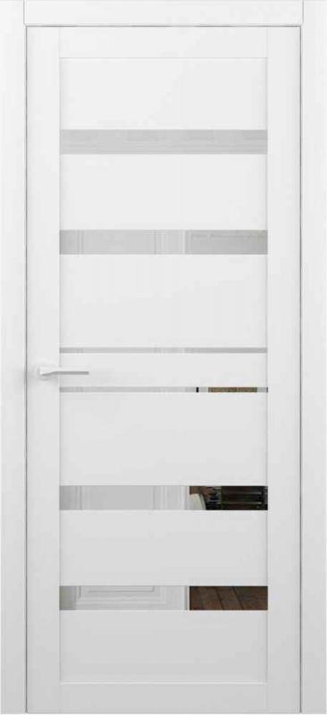 Дверне полотно Albero Dresden Vinil білий дзеркало