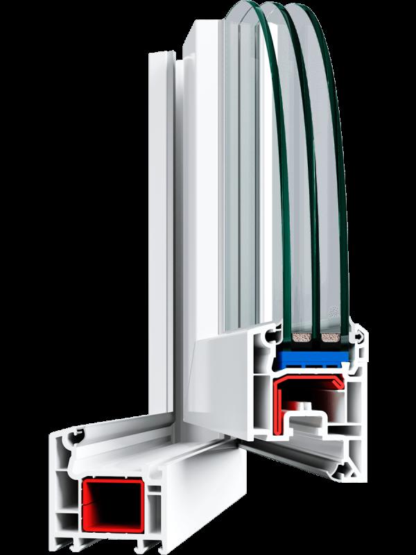 Вікно Veka Euroline Plus 1300*1400 мм.