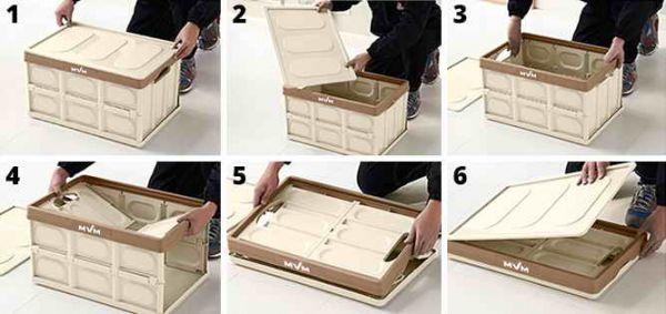 Ящик розкладний з кришкою FB-1 беж