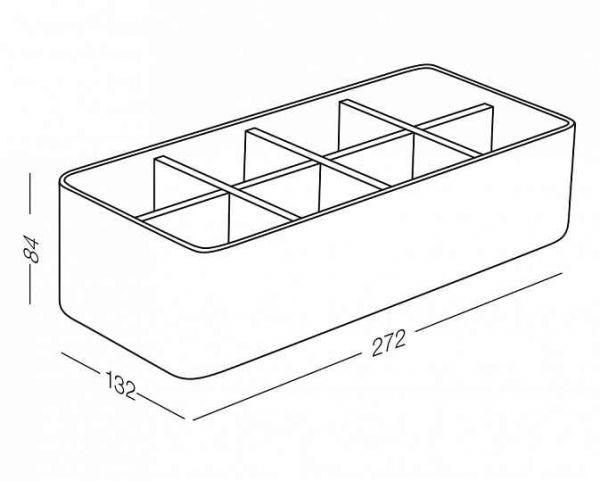 Органайзер для дрібниць FH 03 білий/дерево 272Х132Х84 мм.