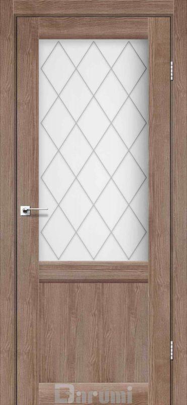 Двері міжкімнатні Darumi-Galant Gl-01 + D1 горіх бургун