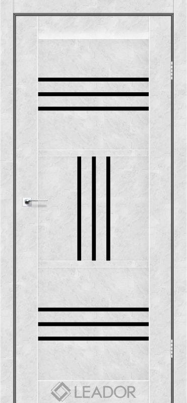 Gela Sincrolam бетон білий чорне скло