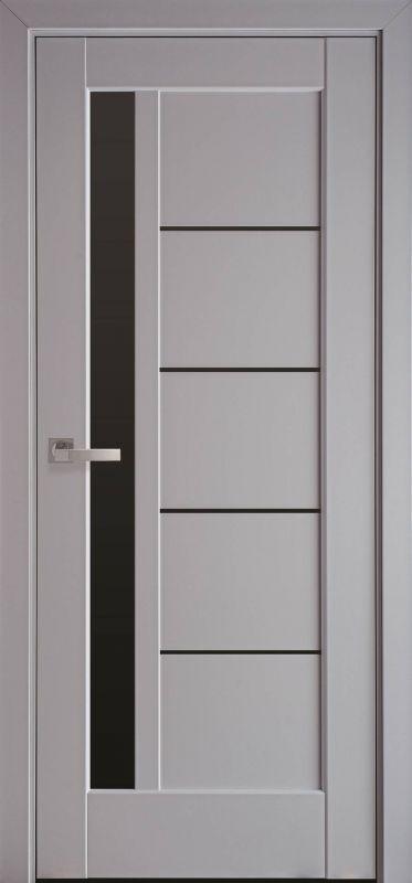 Дверне полотно Ностра Грета blk сіра пастель