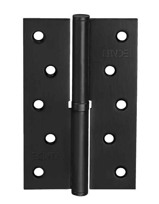 Завіса для дверей з'ємна ліва H-120 L BLK чорна