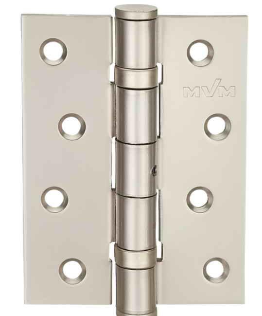 Завіса для дверей універсальна розбірна HE-100 PN перламутровий нікель