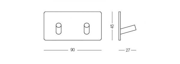 Гачок клейкий HSS 503/2S PSS полірований
