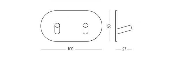 Гачок клейкий HSS 504R/2S SS матовий