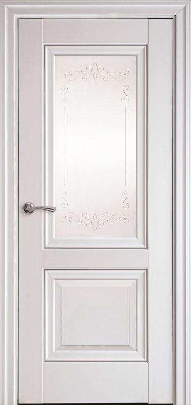 Дверне полотно Елегант Імідж Р2 білий матовий