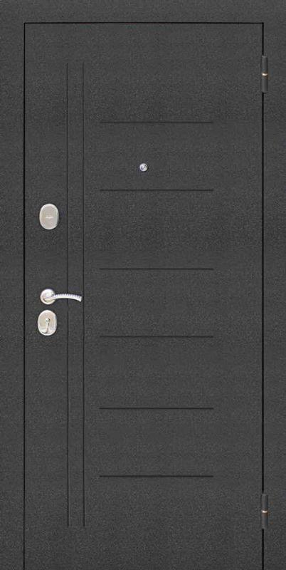 Двері вхідні Riccardi-Standart Laguna Царгова чорний муар/дуб крем MS