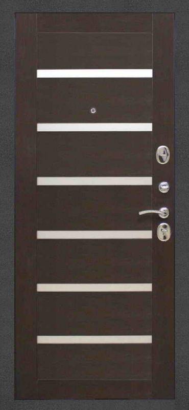 Двері вхідні Riccardi-Standart Laguna Царгова чорний муар/венге MS