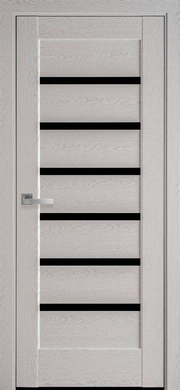 Дверне полотно Ностра Ліннея blk патина сіра