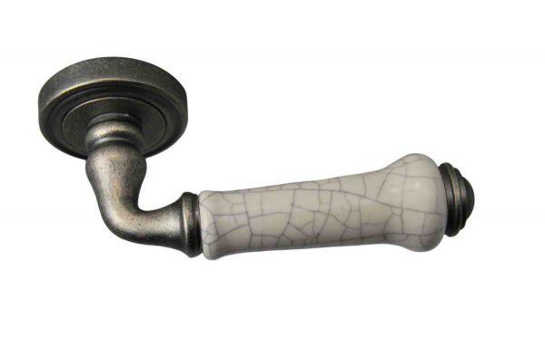 Ручка Siba С01 Lysbon античне срібло/кераміка