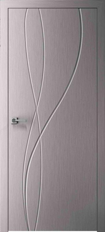 Дверне полотно Skyline Міді X хром