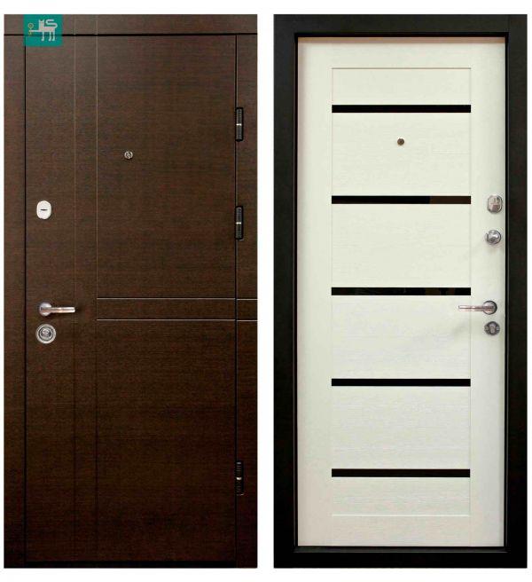 Двері вхідні Міністерство дверей ПК-180/161 Еліт Венге Царга біла