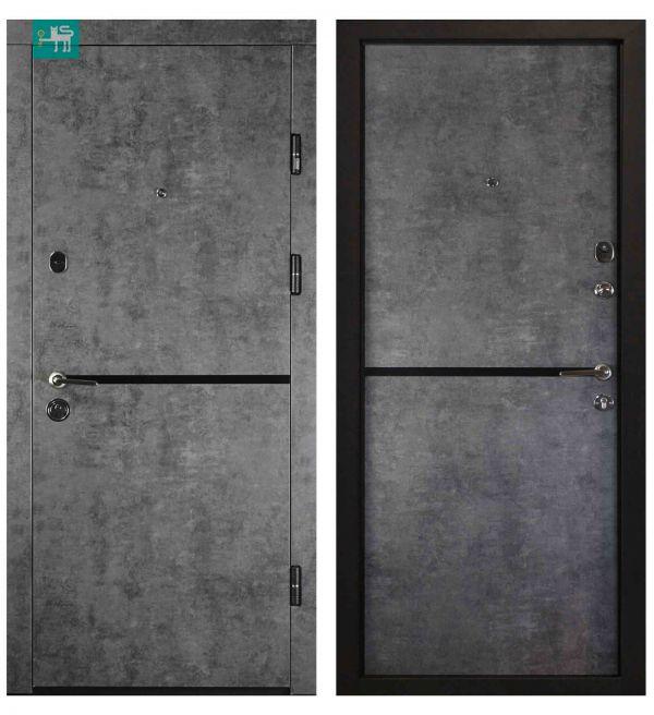 Двері вхідні  Міністерство дверей ПК-209 ЕЛІТ Мармур темний