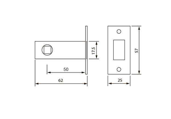 Механізм міжкімнатний ML-01 AB антична бронза