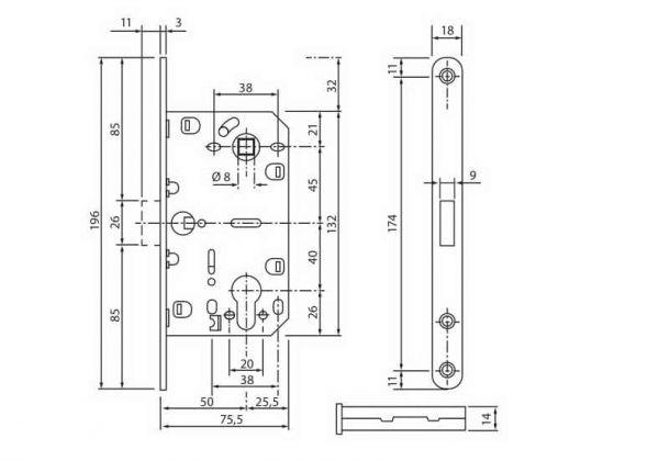 Механізм магнітний під циліндр MLK-03 PZ AB антична бронза