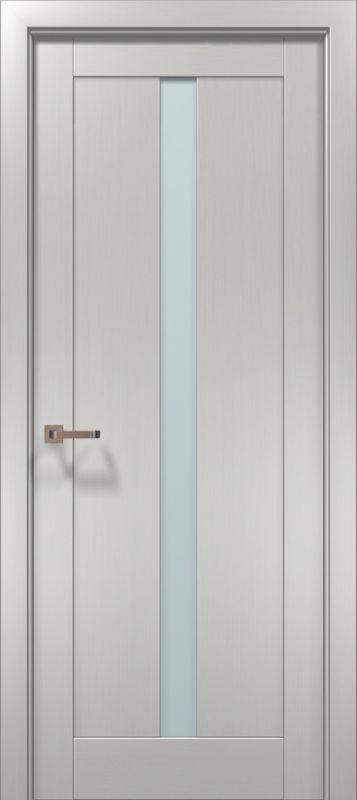 Optima 01 Клен білий скло сатин