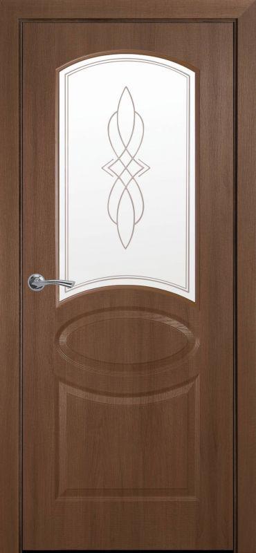 Дверне полотно Фортіс Овал Р1 золота вільха