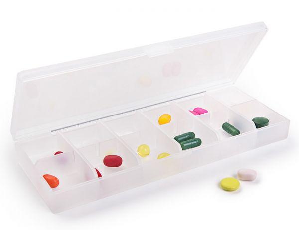 Органайзер для таблеток на 12 відділень PC 09 T прозорий
