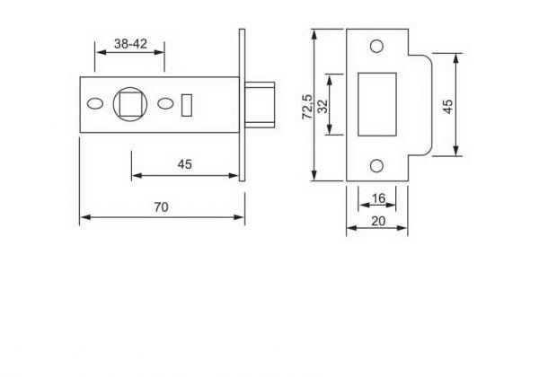 Механізм міжкімнатний PL-02 CP хром