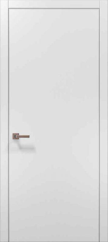 Дверне полотно Папа Карло Plato 01 білий матовий