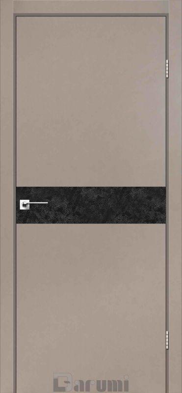 Двері міжкімнатні Darumi-Plato PTL-01 з CPL сірий краст