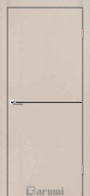 Двері міжкімнатні Darumi-Plato PTL-03 димчастий краст